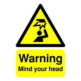 Warning Sign:Mind Your Head A5 PVC