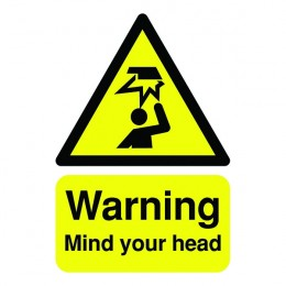 Warning Sign:Mind Your Head A5 Self Adhesive