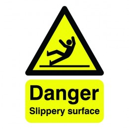 Warning Sign:Slippery Surface A5 Self Adhesive