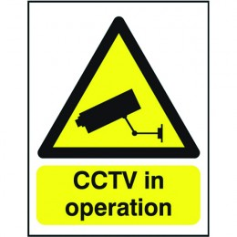 Warning Sign:CCTV in Operation A5 PVC