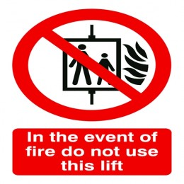 Prohibition Sign:Do Not Use Lift A5 PVC