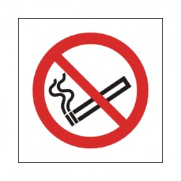 No Smoking Sign:No Smoking Logo 150x150mm Self Adhesive