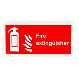 Fire Sign:Fire Extinguisher Location 100x200mm Self Adhesive