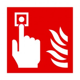 Fire Sign:Fire Alarm Symbol 100x100mm Self Adhesive