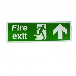 Safety Sign:Fire Exit Up 150x450mm Self Adhesive