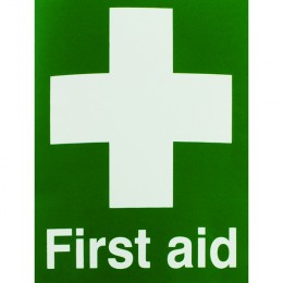 Safety Sign:First Aid 100x250mm Self Adhesive