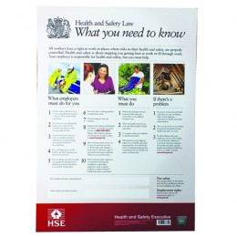 New Health And Safety Law Poster A2 by Signslab
