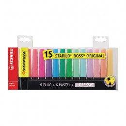 Stabilo Boss Highlighter Assorted [Pack of 15]
