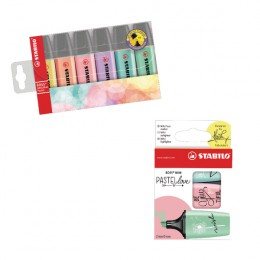 Stabilo Highlighters Assorted Pastel [Pack of 6]