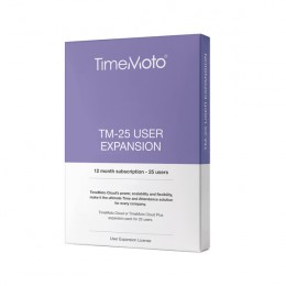 Safescan TimeMoto Cloud Software 25 User Expansion 12 Month Subscription