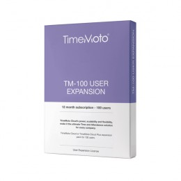 Safescan TimeMoto Cloud Software 100 User Expansion 12 Month Subscription