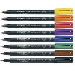 Staedtler Lumocolor Fine Permanent Assorted [Pack of 8]