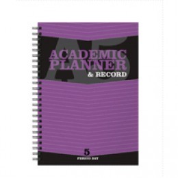 Silvine A5 Teachers Academic Planner 5 Period for 204 Days