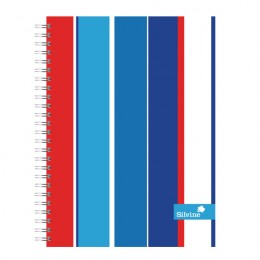 Silvine GEO POP Twinwire Notebook 160 Pages A5+ [Pack of 4]
