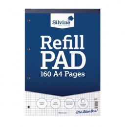 Silvine Refill Pad A4 Ruled 5mm [Pack of 6]