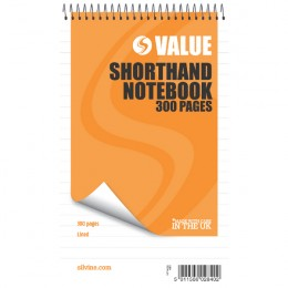 Silvine Shorthand Book 5x8 Inches [Pack of 6]