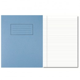 Silvine 9x7 Inch Exercise Books Feint Margin Blue [Pack of 10]