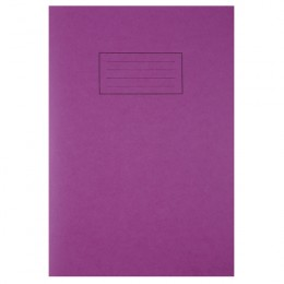 Silvine A4 Exercise Book 80 Pages Purple [Pack of 10]