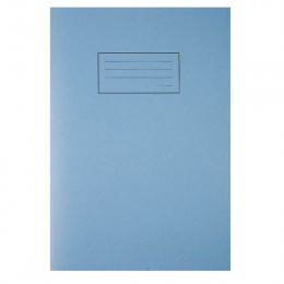 Silvine Tough Shell Exercise Book A4 Feint Ruled with Margin Blue [Pack of 25]