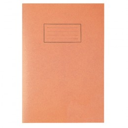 Silvine Tough Shell Exercise Book A4 7mm Squares Orange [Pack of 25]