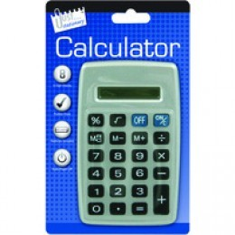 Tallon Pocket Calculator Black and Silver [Pack of 12]