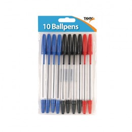 Tiger Ballpoint Pens, Black, Blue and Red [Pack of 120]