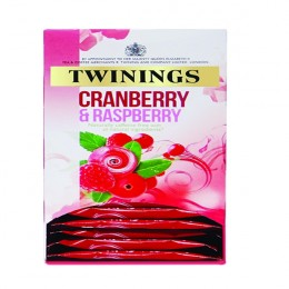 Twinings Cranberry Raspberry and Elderflower Infusions Tea [Pack of 20]