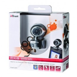 Trust Exis Webcam Black and Silver