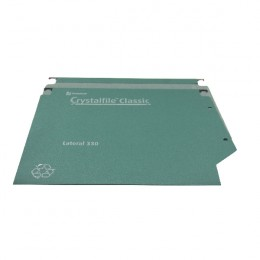 CrystalFile Lateral Files 330mm 50mm Green [Pack of 25]
