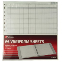 Variform V5 10 Column Cash Refill [Pack of 75]