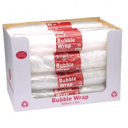 Post Office Postpak Clear Bubble Wrap [Pack of 12]