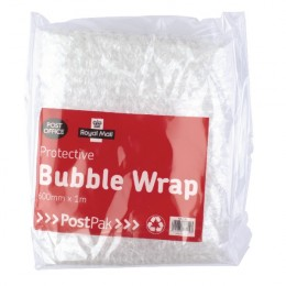 Post Office Postpak Protective Bubble Wrap Sheets 600mmx1m [Pack of 8]