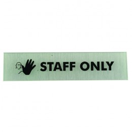 Acrylic Sign:Staff Only 190x45mm