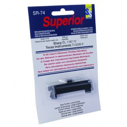 Superior SR-74 Printing Calculator Black Ink Roll