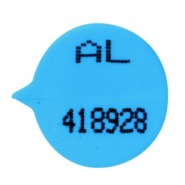 GoSecure Numbered Round Seal Blue [Pack of 500]