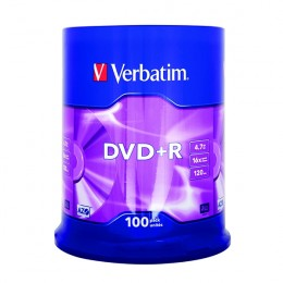 Verbatim DVD+R 16x [Spindle of 100]