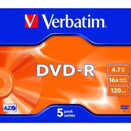 Verbatim DVD-R 16x 4.7Gb Jewel Case [Pack of 5]