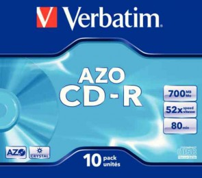 Verbatim CD-R 80MINS JC P10 43327