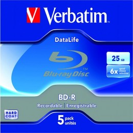 Verbatim Blu-Ray BD-R 25Gb 6x in Jewel Cases [Pack of...