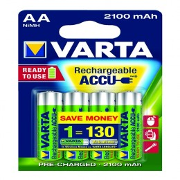 Varta AA Rechargeable Accu Battery NiMH 2100 Mah [Pack of 4]