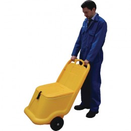 Mobile Salt and Grit Bin 75 Litre Yellow