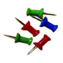 Clipper Push Pin Assorted [Pack of 20]