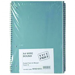 A4 Spiral Pad 80 Leaf [Pack of 12]