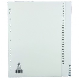 Index A4 1-31 Polypropylene White