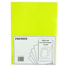 Cut Flush Folder Yellow [Pack of 100]