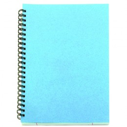 A5 Spiral Pad 80 Leaf Blue [Pack of 12]