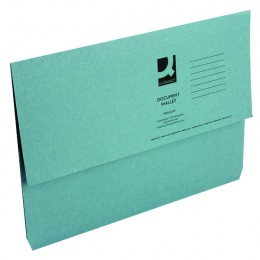 Document Wallet Foolscap Blue 220g [Pack of 50]