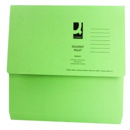 Document Wallet Foolscap Green 220g [Pack of 50]