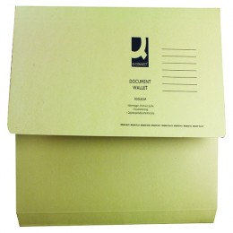 Document Wallet Foolscap Yellow 220g [Pack of 50]