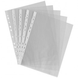 Punched Pockets A4 Clear [Pack of 100]